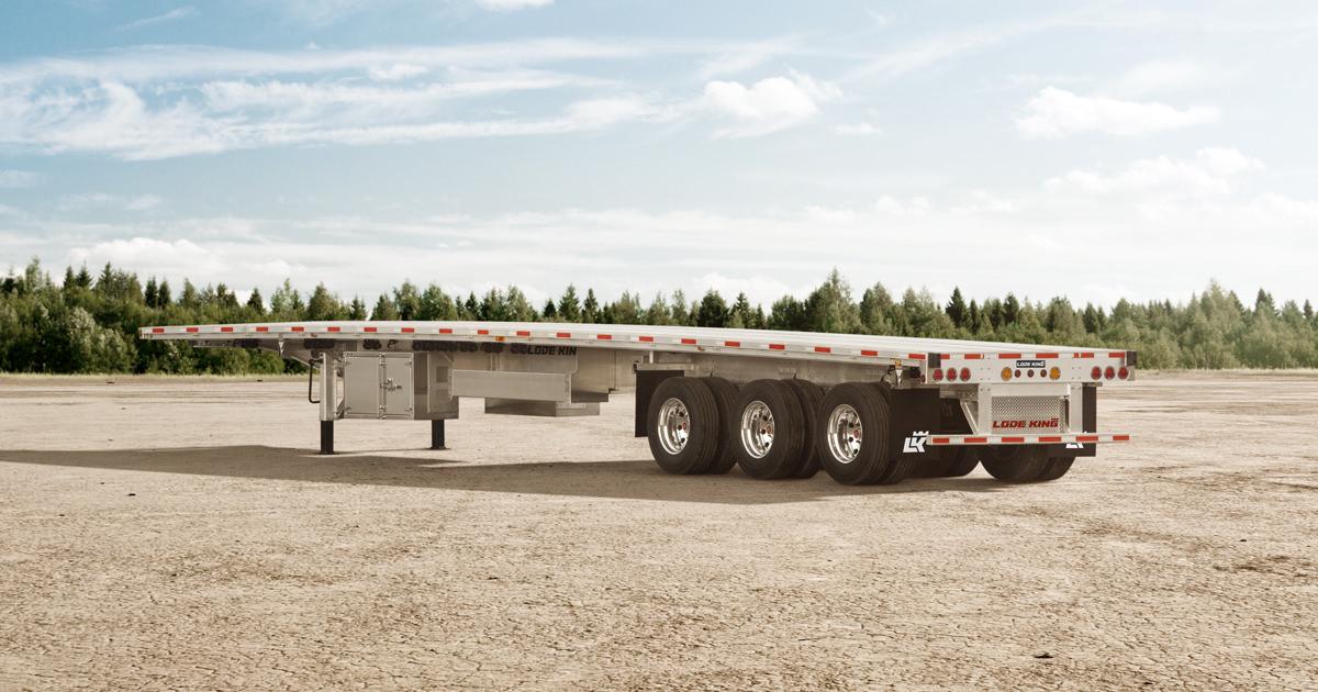 Brilliance Aluminum Flatbed Trailers   Aluminum Flatdeck Trailers   Lode  King